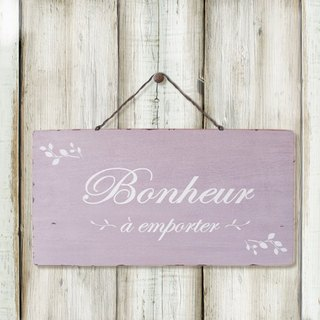 Southern France style wood retro ornaments -BONHEUR