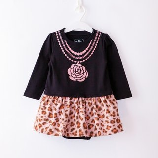 PUREST Camellia Necklace Leopard Printed Bodysuit - Black (Exclusive Style)