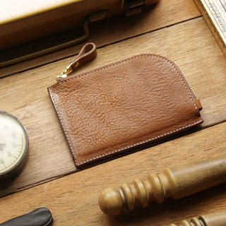 weekenlife - Leather Coin Purse ( Custom Name ) - Caramel Coffee