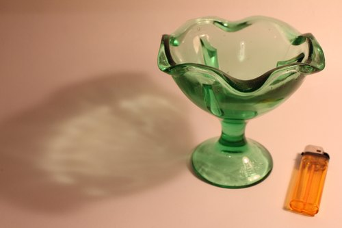 Vintage Ice Cream Bowl grocery wind the old-fashioned handmade green glass ice cream cup