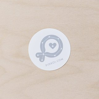 "Pinkoi Fish ""Constellation"" Medium Round Sticker (White)"