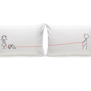 """Puppy Love"" Couple Pillowcases (FREE HAND CREAM)"