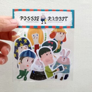 POSSIE Illustration Set Waterproof Stickers --- 12 Pieces/Package