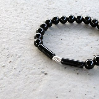V-CIRCLE natural stone bracelet - Black Knight - Spirit