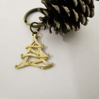 Christmas tree (brass key chain) - C percent handmade jewelry