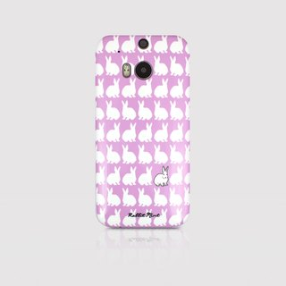 (Rabbit Mint) Mint Rabbit Phone Case - purple bunnies pattern Series - HTC One M8 (P00072)