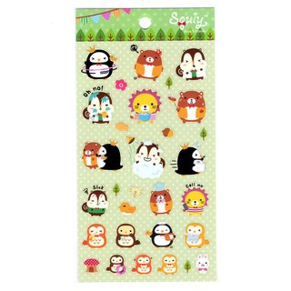 Squly & Friends Forest Life Style Theme Sticker (E009SQS)