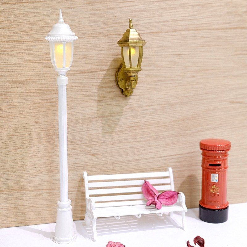 Passionate partner group warm wall lamp hook (classical gold) + classical street lamp pen (pearl white)