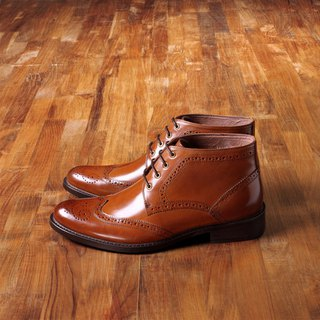 Vanger elegant beauty ‧ gentleman style carved Derby boots Va148 gentleman brown