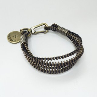 Bronze chain teeth multi-level bracelet