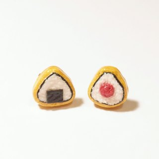 ~~mini New Products~~Triangle Rice Balls Frosted Biscuits Earrings Set (2 Pieces) Can Change Ear Clips