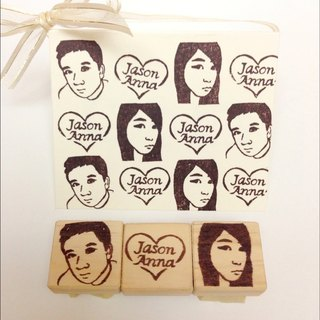 [Valentine Exclusive] portrait handmade custom rubber stamp card kits
