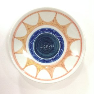 Eye color boat - Lanyu painted saucer