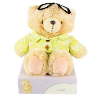 8吋/Hawaii Fleece Bear [Hallmark-ForeverFriends Plush-Transvestite Series]