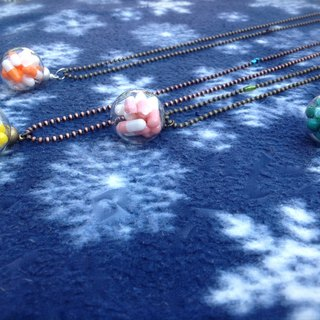 Necklace ∞ ball rescue series green meteor