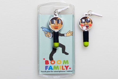Boom Family explosive anger family - phone dust plugs + Stylus (father -Lance)