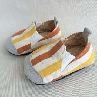 Va Great orange stripes handmade shoes series of hard and soft-soled shoes personality