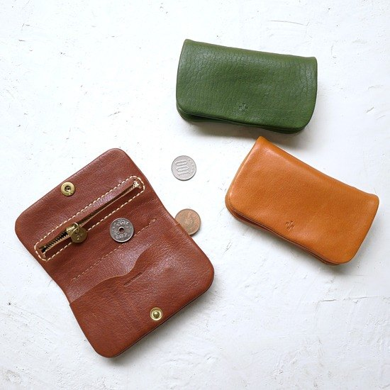 Japanese Handmade Leather Simple Multi Functional Purse Business