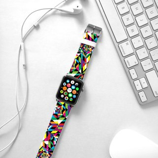 Apple Watch Series 1 , Series 2, Series 3 - Abstract Colorful Geometric Pattern Watch Strap Band for Apple Watch / Apple Watch Sport - 38 mm / 42 mm avilable