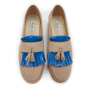Classic Vintage Moccasin Tassel Loafers M1109 Blue