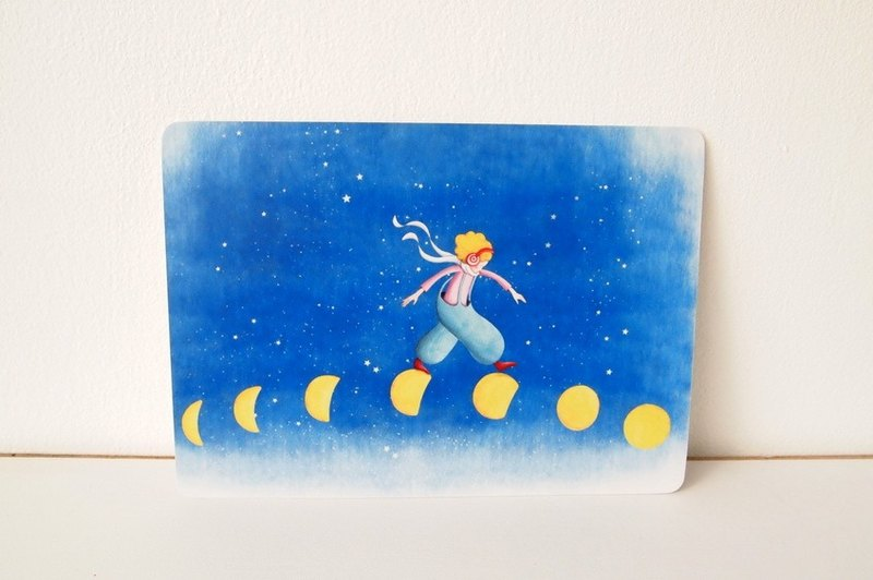 """Walking on the moon"" Postcards"