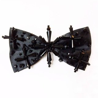 Black crystal cross bow tie Bowtie