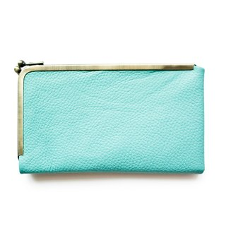 Long wallet,Wallet, Frame Purse /L design cell/Tiffany Blue