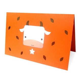 Handmade card _ cute calf... universal card, birthday card