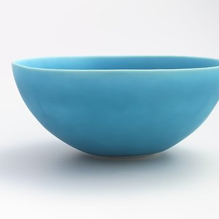 coco#3 turquoise (porcelain small salad bowl)