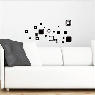 Smart Design creative wall stickers ◆ Seamless rectangle 8 color options