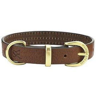 Wes [W & amp; S] three lines leather collar S - brown, black