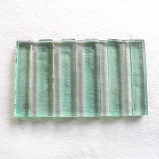 Wide straight scented soap bar (green)