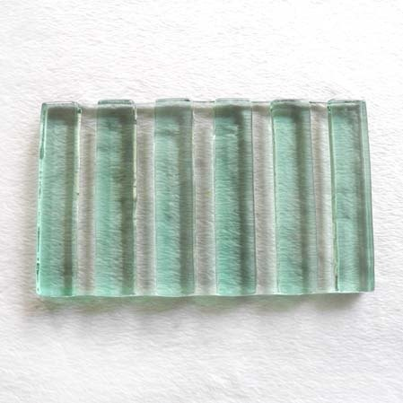 寬直紋琉璃皂盤(綠)
