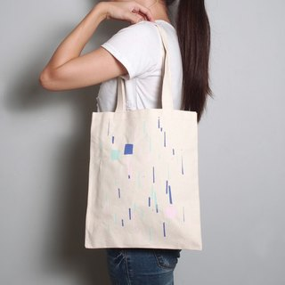 Simple hand-painted handprints Peibu bag [box] single / double hand / shoulder