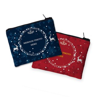 Christmas WF® purse - snowy night reindeer (blue) AB5-XMAS1