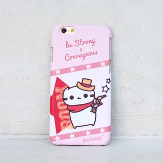 Dollmei iPhone 6 Phone Case Be strong and courageous cowboy cute red cat