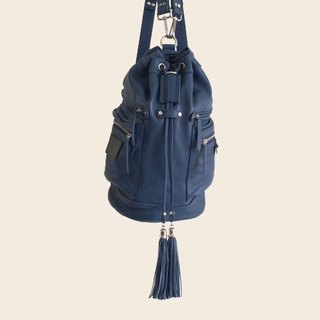 ► Jennifer | shoulder bag ● deep sea blue / roan cylinder backpack