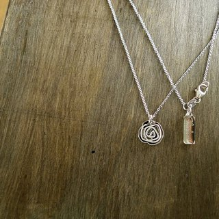 Shadow * silver graffiti series _ rose sterling silver necklace Christmas exchange gifts