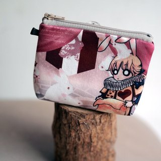 ZoeL * Mezzanine purse * * Homemade Alice Alice White Rabbit kingdom illustration