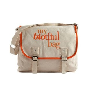 法國my biotiful bag有機棉Messenger Bag-Orange