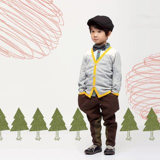 [Child Gift Set] Little Prince little newsboy jacket + shirt + breeches Knight
