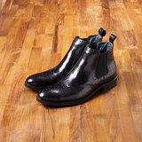 Vanger 優雅美型‧紳士經典卻爾西靴║Va181經典黑