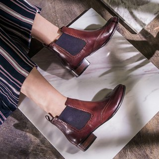 E cho pretty retro color but Er Shui boots ec30 Bordeaux