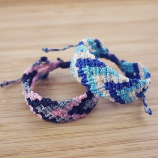 [Courage] silk wax line braided bracelet