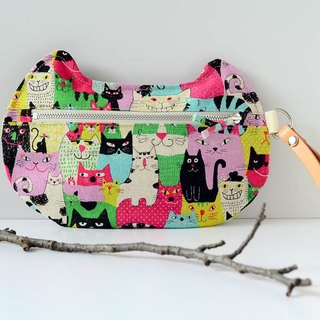 zippy cat - multi-functional pouch - kitty party