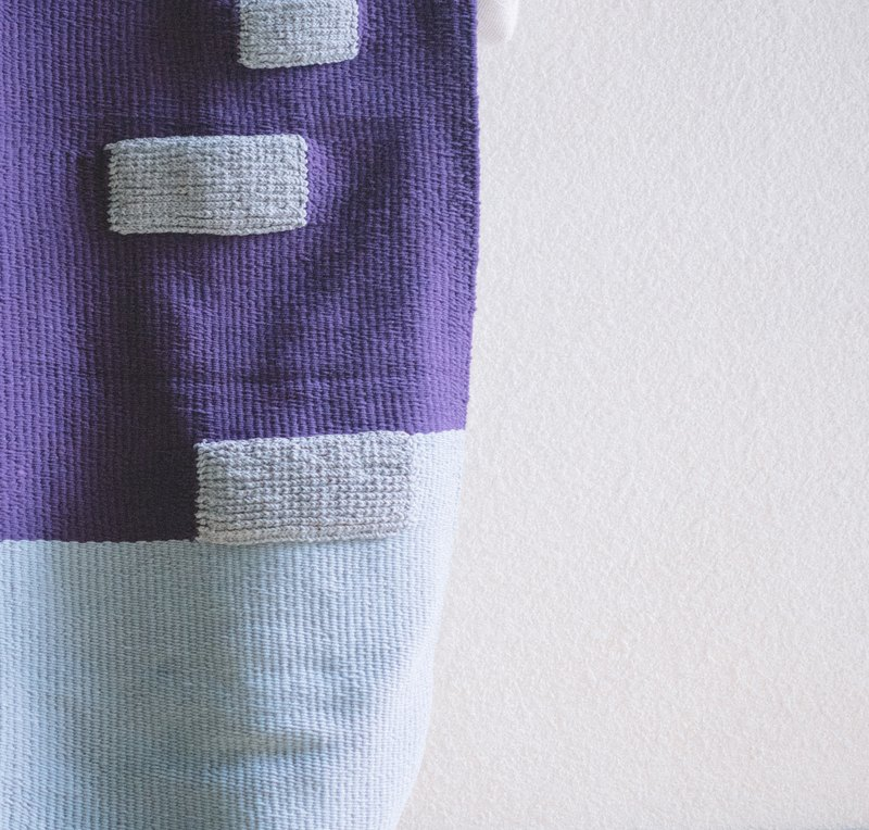ISLANDS / Oversized Hand Loomed Scarf - Purple