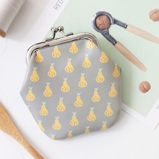 Clearance Specials - Koharu Day and Gold Leather Purse - Pear, ICO83849