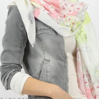 Printed pattern long scarf / batch shoulder Ana Maison # 1057 - spring up (subscript Gou, please ask)