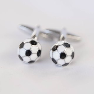 Black and white soccer cufflinks SOCCER CUFFLINK