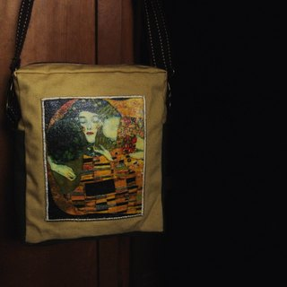 [T - C] side of the world famous painting canvas backpack